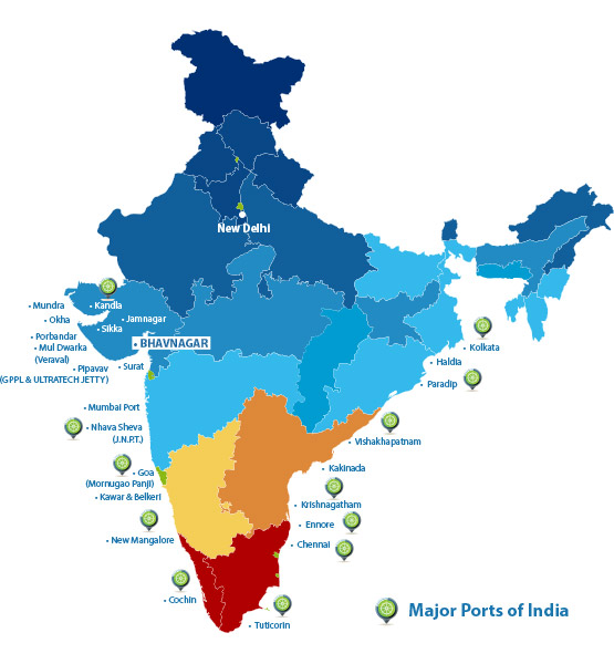 Shipping & Cargo Services, Major & Minor Ports in India | Pearl